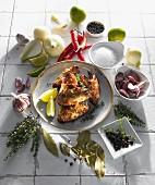 Hähnchenflügel mit Thymian-Chili-Panade
