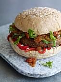 A falafel burger