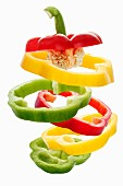 Colourful pepper rings