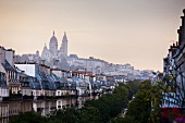 A view of Montmartre, Sacré-Coeur and the Boulevard de Clichy in the morning, Paris