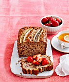 Banana & strawberry bread