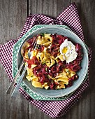 Papardelle with caramelised onions