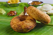 Vada (deep-fried lentil rings, India)