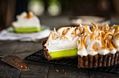 Chocolate and lime meringue pie