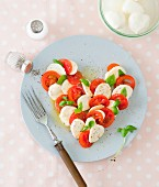 A Caprese heart for Mother's Day