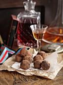 Truffle pralines and sherry