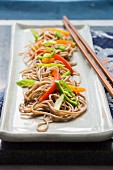 Soba noodles with a pepper medley (Asia)