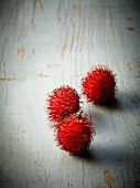 Three rambutans