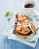 Ricotta pancakes with maple syrup