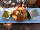 Wild mushroom pasties and dips