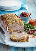 Meat terrine with apricots and Brazil nuts