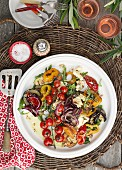Grilled vegetables with spice