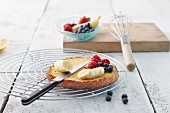 A light tart base and fresh fruit