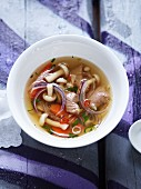 Spicy duck soup with mushrooms (Asia)