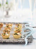 Courgette and feta tartlets