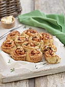 Scone spirals with rosemary