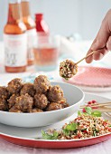 Pork meatballs with a dip