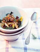 Stew with calamari and vegetables