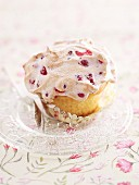 A redcurrant and meringue cupcake