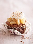 Spice pear cupcake