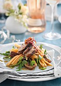 Duck salad with melon