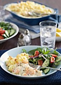 Fish bake with Mornay sauce