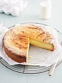 Filled quark cake