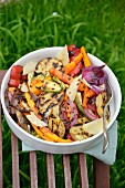 Grilled vegetables with Parmesan and balsamic vinegar
