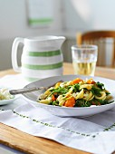 Orecchiette salad with spinach and cherry tomatoes