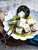 Feta cheese in oil