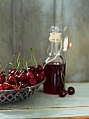 Sour cherries and redcurrant juice