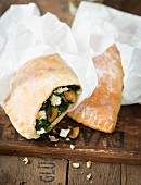 Mini calzone with chard