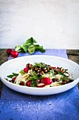 Fennel salad with radishes and hazelnuts