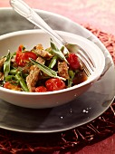 Veal stew with green beans and sage