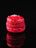 An ice cold raspberry macaroon