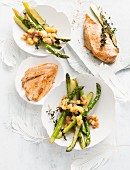 Chicken with asparagus for Easter
