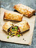 Lentil and vegetable rolls