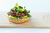 Avacado burger with mint chutney