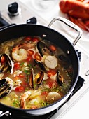 Bouillabaisse (fish and seafood soup, France)