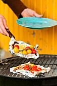 Grilled halloumi with cherry tomatoes