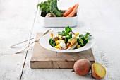 Gemüseeintopf mit Lammfleisch