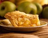 Ein Stück Apple Pie auf Teller