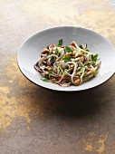 Oriental salad made from green papaya, cowpeas and coconut