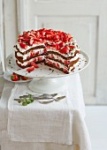 Black Forest Gateau strawberry cake