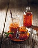 Sweet chilli sauce and harissa
