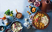 Lamb tagine with ingredients