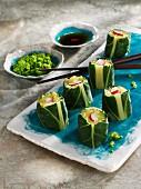 Bavarian sushi with homemade wasabi