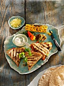 Grilled quesadillas