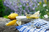 Caper sauce with olive oil and lemons