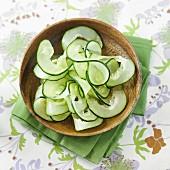 Spiral-cut cucumber